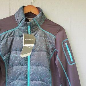 Eddie Bauer NWT Puff Athletic Jacket XL Teal Grey